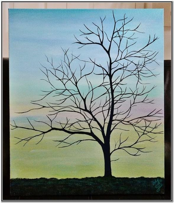 Easy Painting Ideas For Beginners Trees