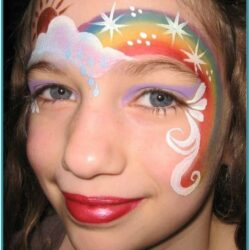 Easy Rainbow Face Painting Ideas