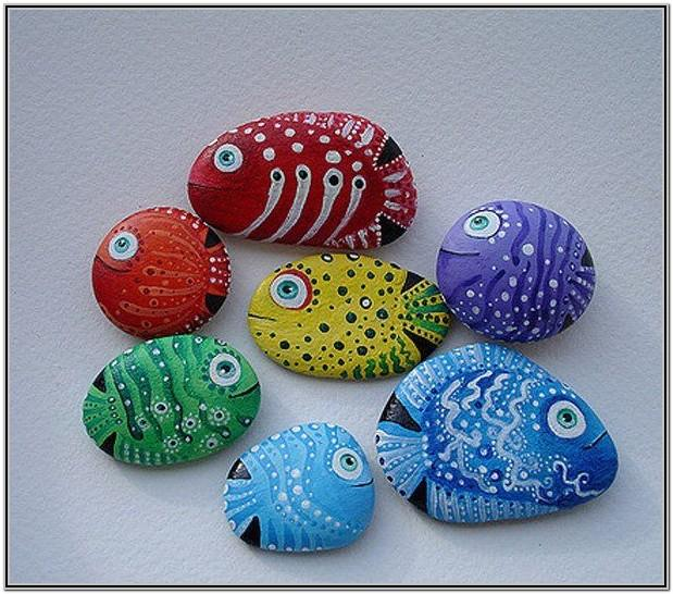 Easy Rock Painting Ideas Fish