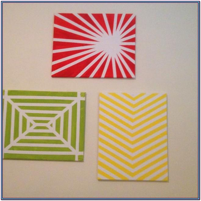 Easy Wall Painting Ideas With Tape