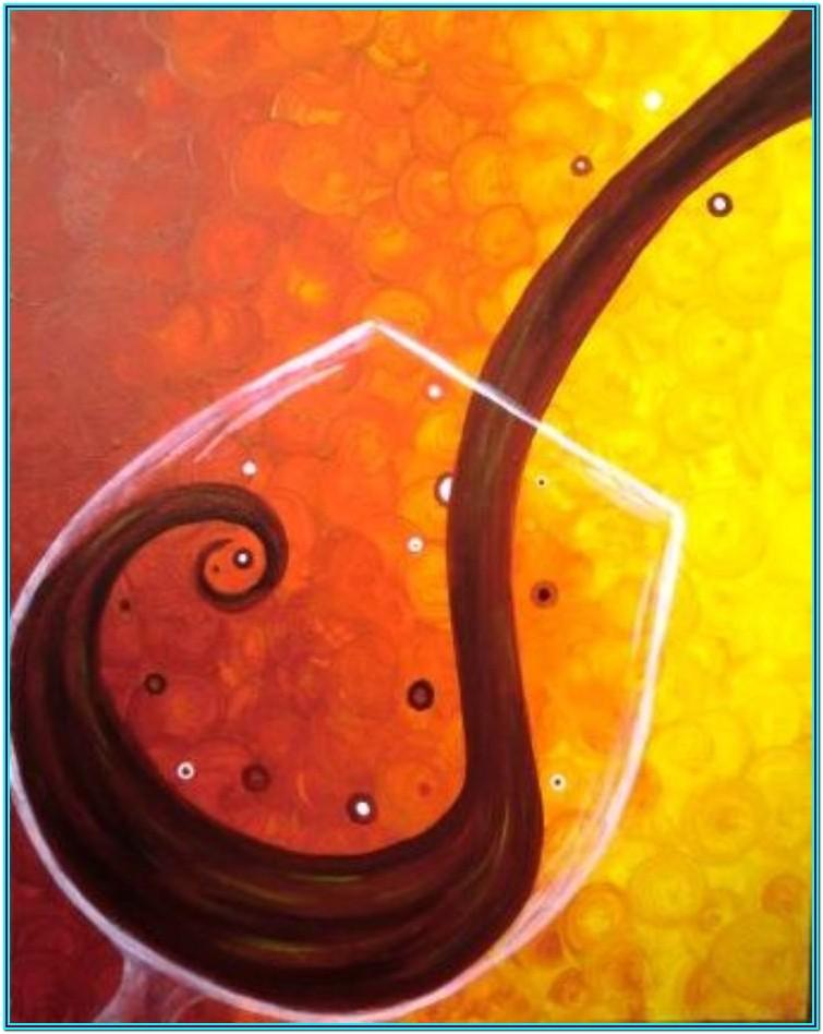 easy wine and paint ideas