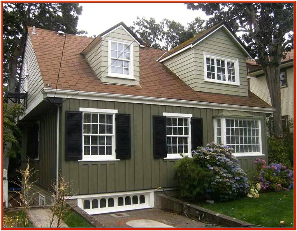 Exterior House Color Schemes With Red Roof