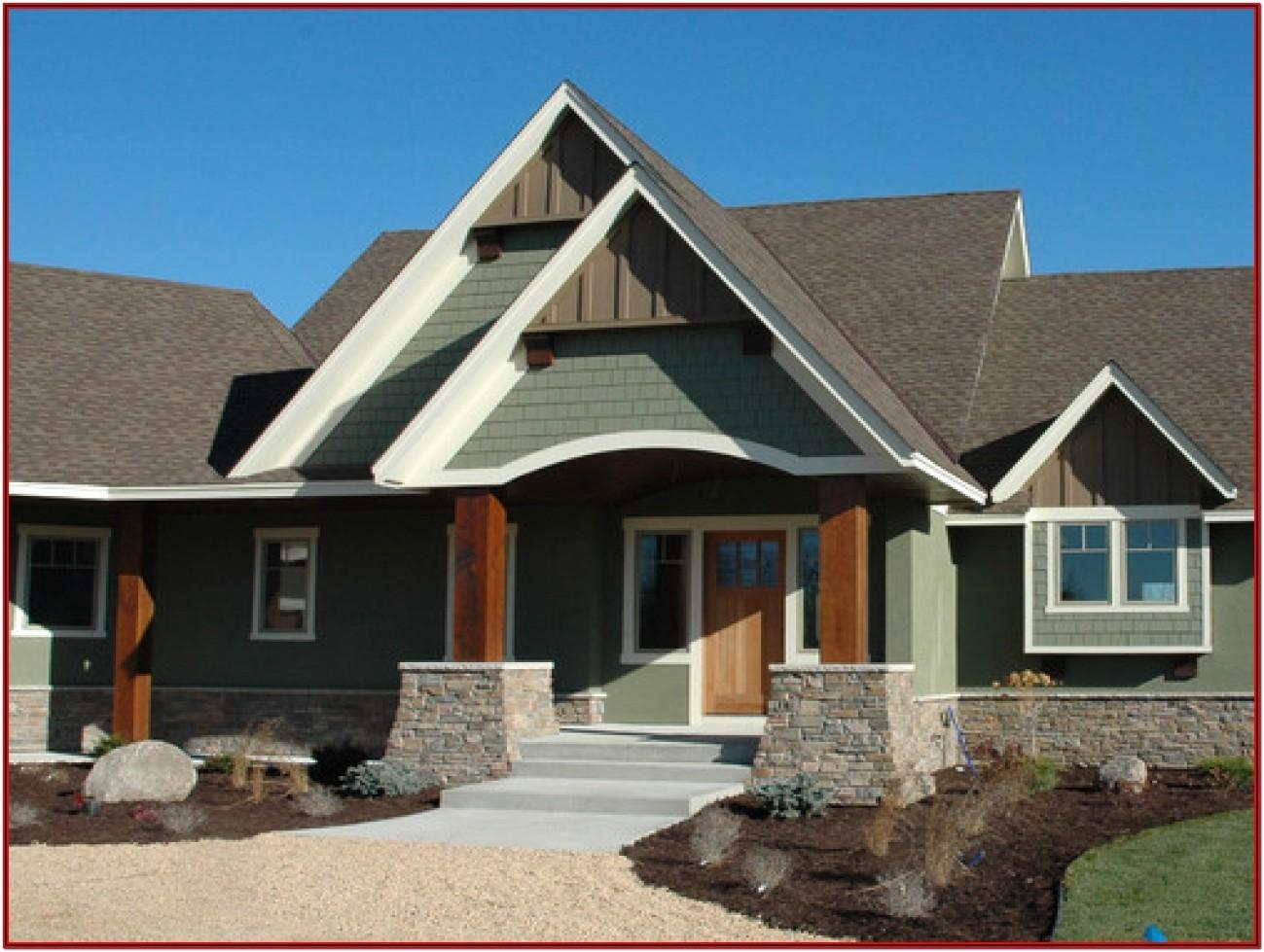 Exterior House Colors With Dark Brown Roof