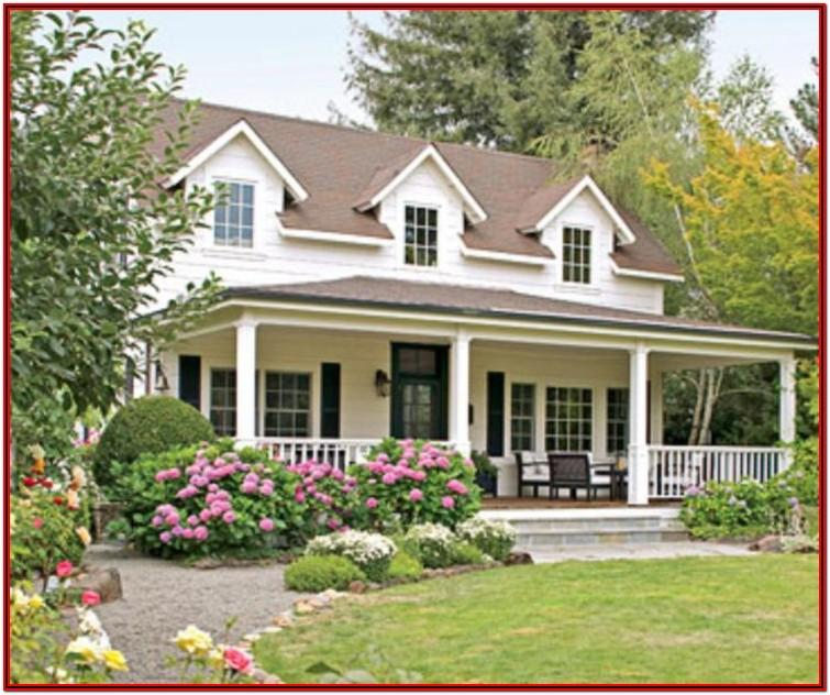 exterior house colors with reddish brown roof