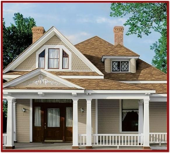exterior house paint colors with brown roof