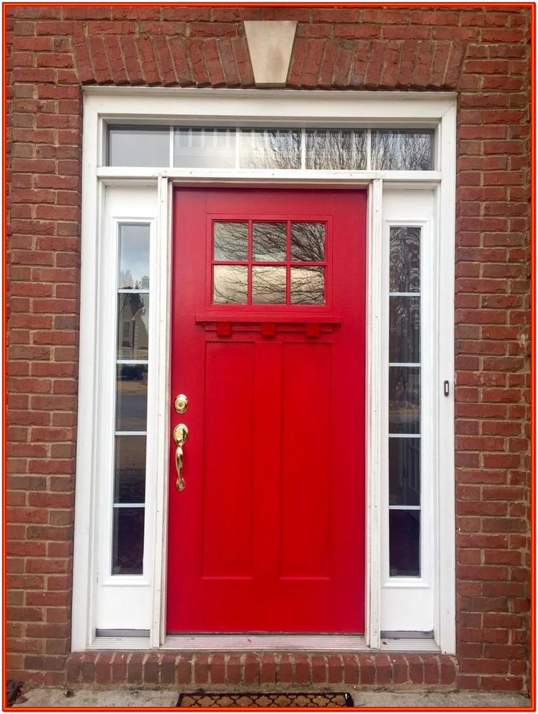 Exterior House Paint Colors With Red Door
