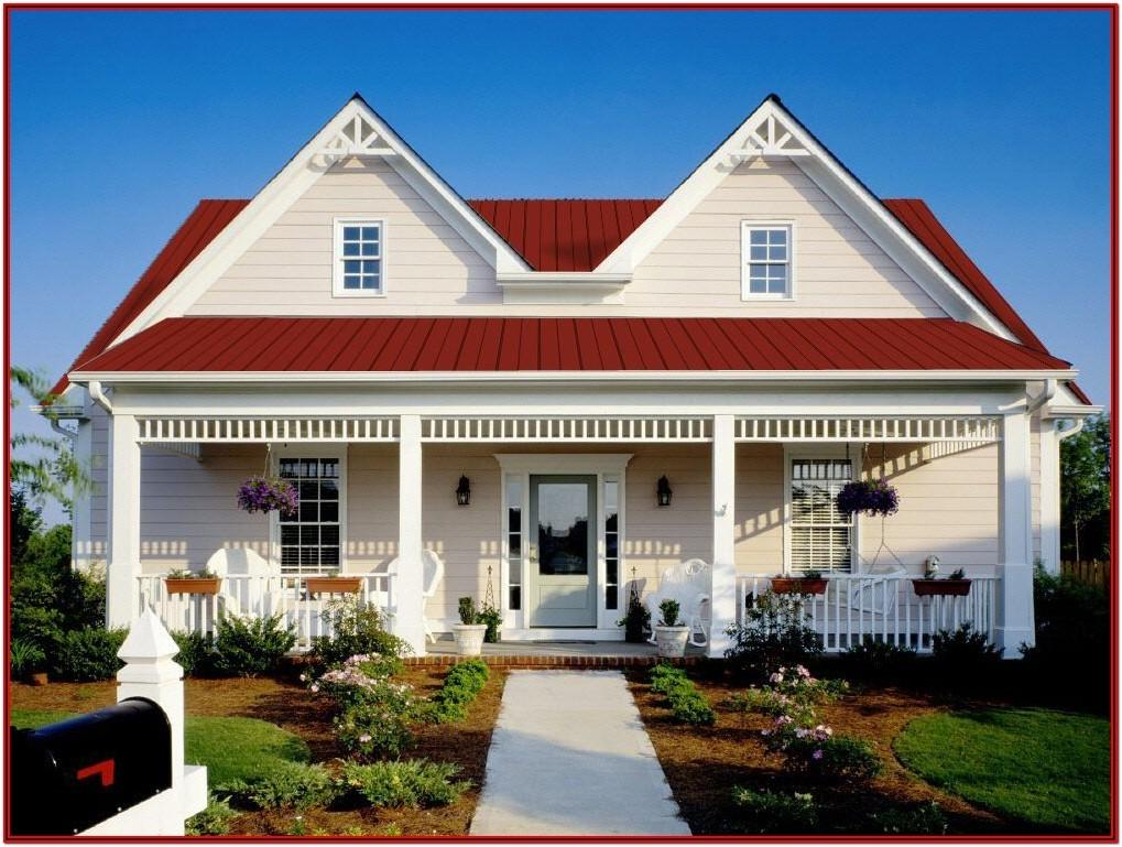 Exterior House Paint Colors With Red Roof