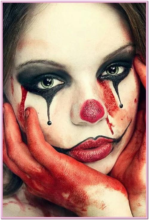 Female Clown Face Paint Ideas