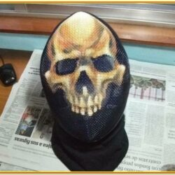 Fencing Mask Painting Ideas