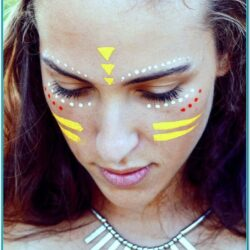 Festival Neon Face Paint Ideas