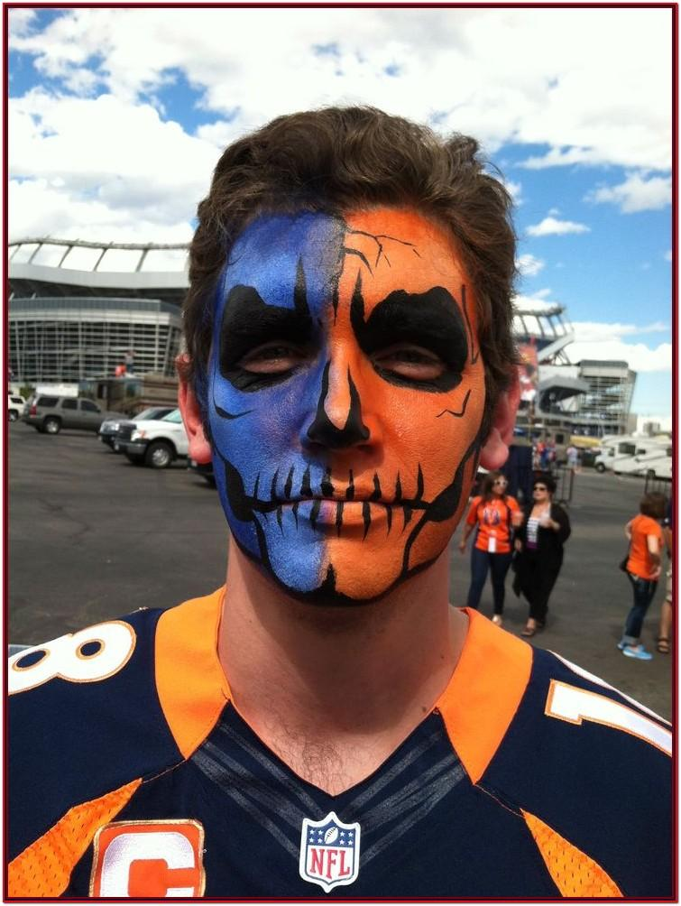Football Fan Face Painting Ideas