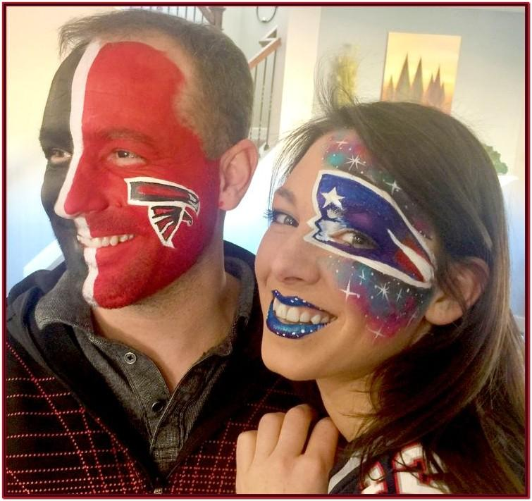 Football Game Face Paint Ideas