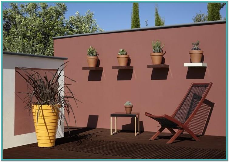 Garden Brick Wall Paint Ideas