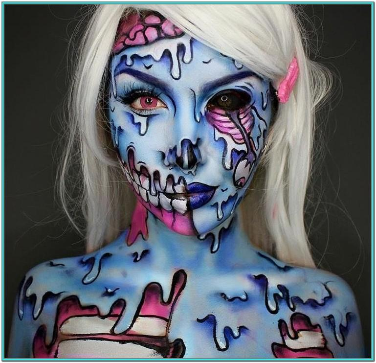 Girl Zombie Face Paint Ideas