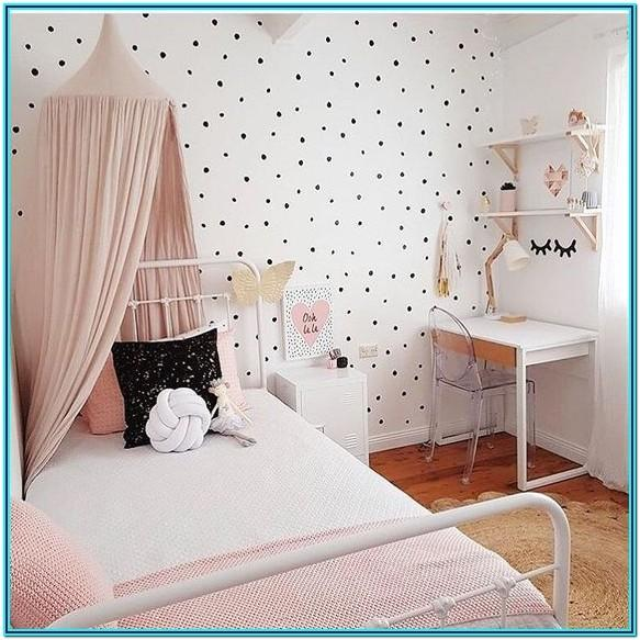 Girls' Bedroom Paint Ideas Polka Dots
