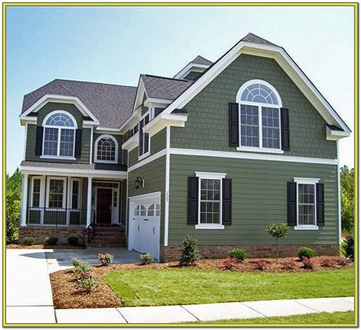 Green Exterior House Paint Images