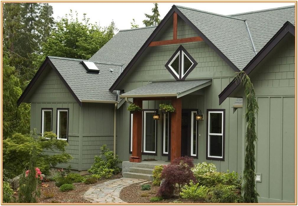 Green House Exterior Colour Schemes