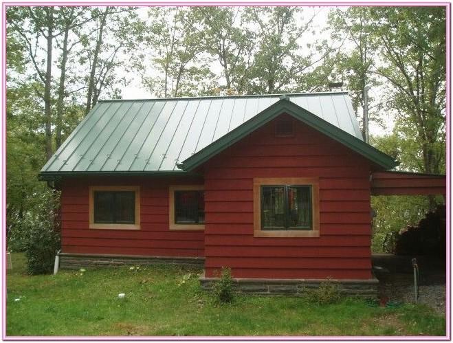 Green Roof House Paint Colors