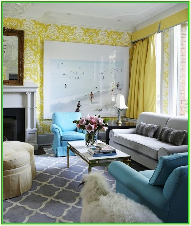 Grey And Aqua Living Room Decor