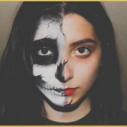 Halloween Cheek Painting Ideas