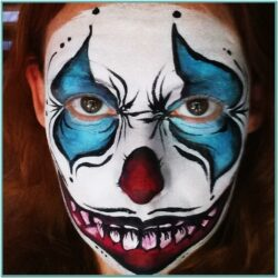 Halloween Clown Face Paint Ideas