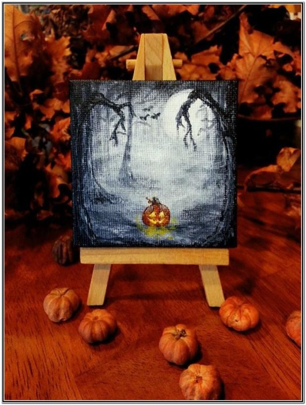 Halloween Painting Ideas Easy