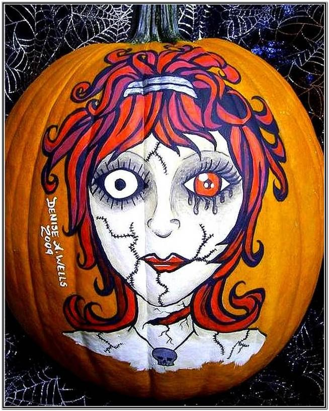 Halloween Painting Ideas On Pumpkins