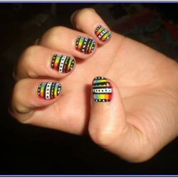 Hand Painted Nail Designs For Beginners