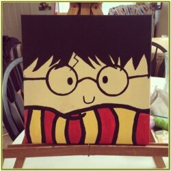 Harry Potter Canvas Painting Ideas