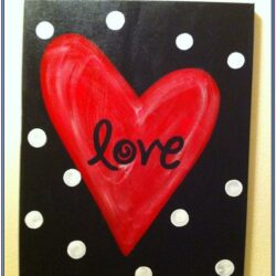 Heart Canvas Painting Ideas