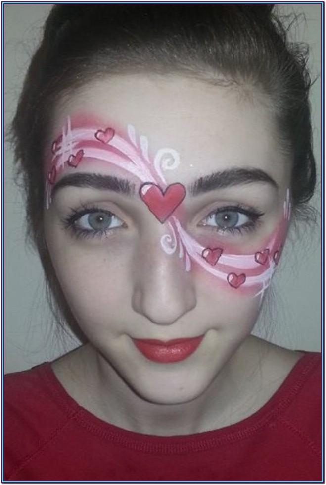 Heart Face Painting Ideas