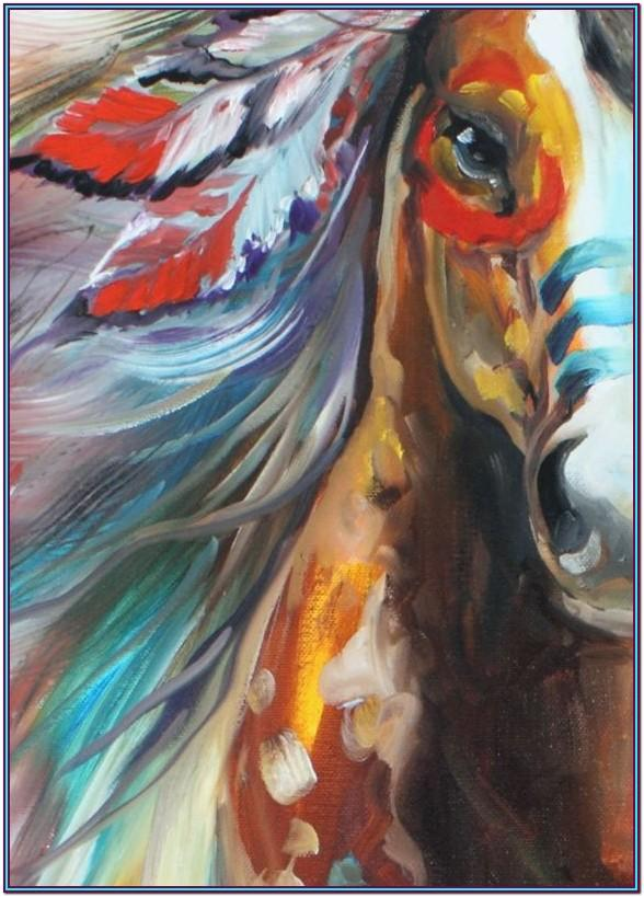 horse canvas painting ideas