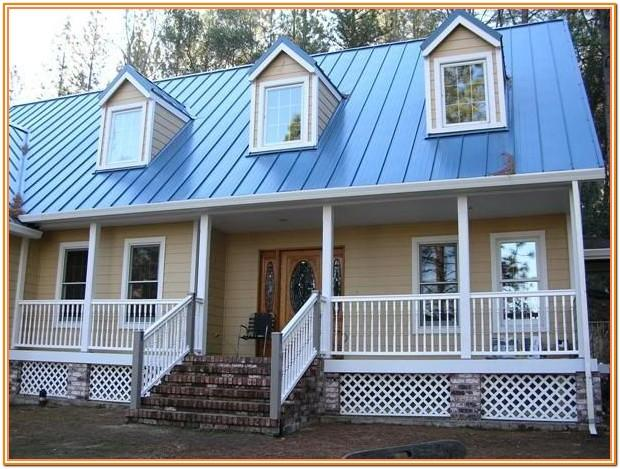 house exterior color schemes with blue roof