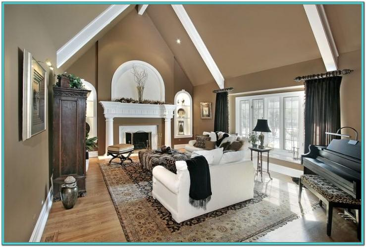 Living Room Vaulted Ceiling Paint Ideas