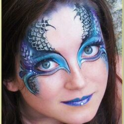 Mermaid Face Painting Ideas