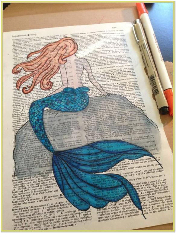 Mermaid Tail Painting Ideas