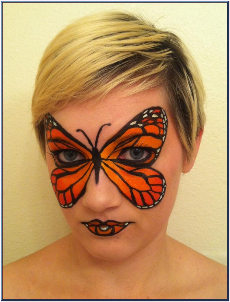 Monarch Butterfly Face Paint Ideas