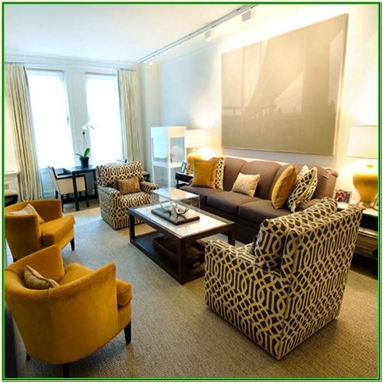 Mustard And Brown Living Room Decor