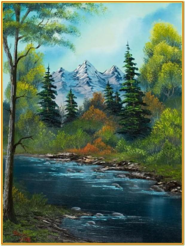 nature painting ideas for beginners