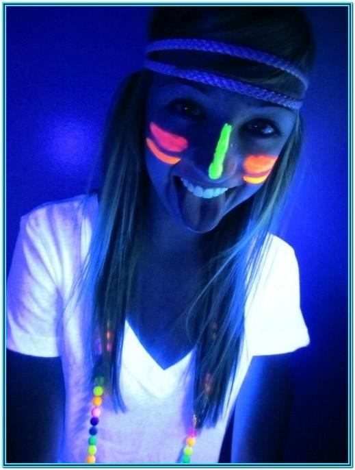 Neon Face Paint Ideas Dots