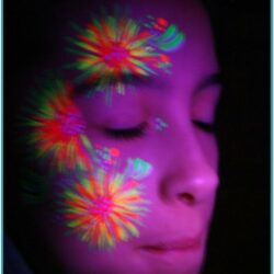 Neon Face Paint Ideas Simple