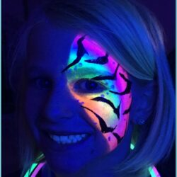 Neon Face Paint Images