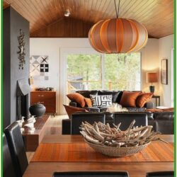 Orange And Black Living Room Decor