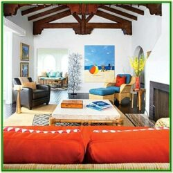 Orange And Blue Living Room Decor