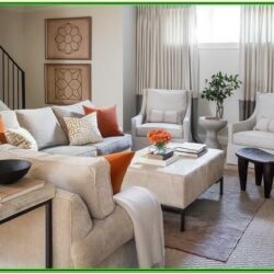 Orange And Gray Living Room Decor