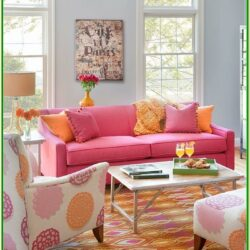 Orange And Red Living Room Decor