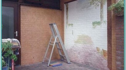 Outdoor Brick Wall Painting Ideas