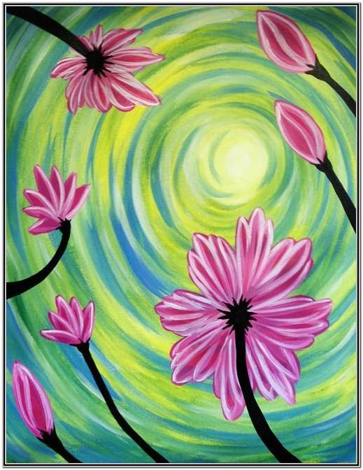 Paint Night Ideas Flowers