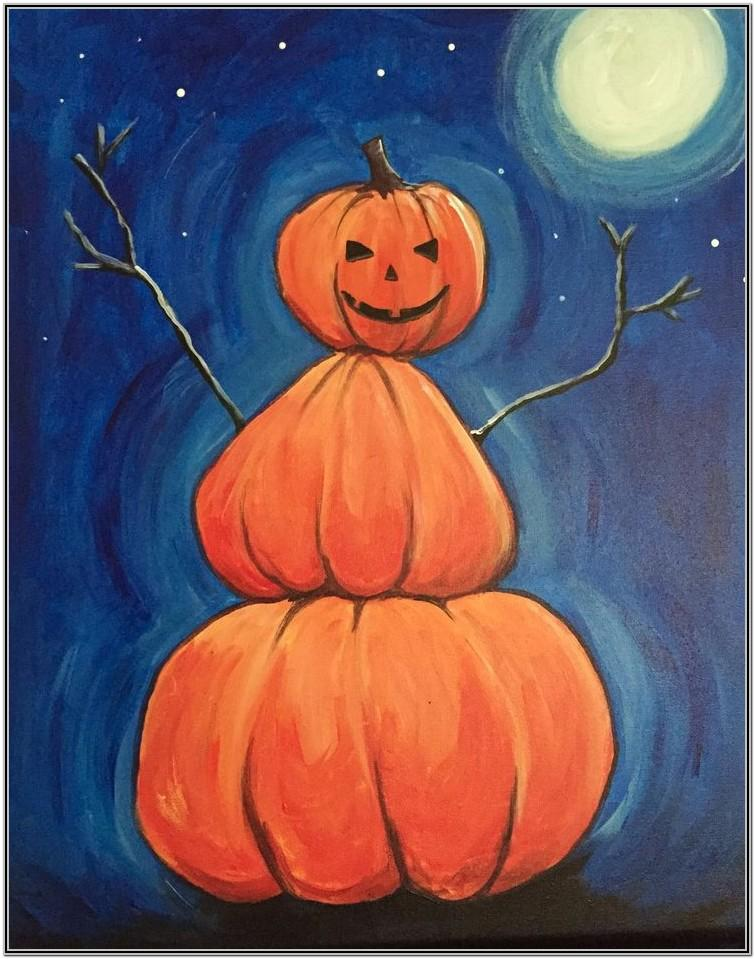 Paint Night Ideas Halloween