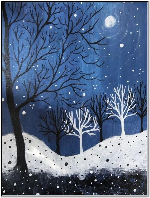 Paint Night Ideas Winter